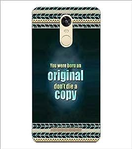 PrintDhaba Quote D-4140 Back Case Cover for XIAOMI REDMI NOTE 3 (MEDIA TEK) (Multi-Coloured)