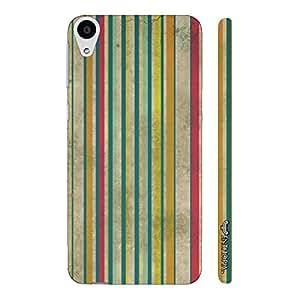 HTC Desire 728 Dual SIM Grunge Stripes 2 designer mobile hard shell case by Enthopia