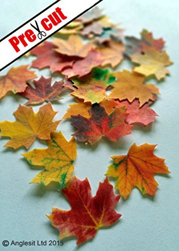 Fall Maple Leaves Rice Paper