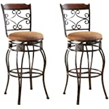 ACME 96045 Set of 2 Tavio Swivel Bar Chair, 29-Inch