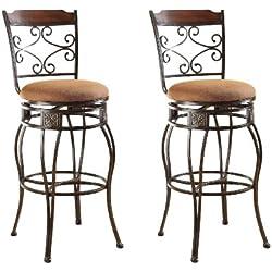 ACME 96045 Set of 2 Tavio Swivel Bar Chair, 29-Inch