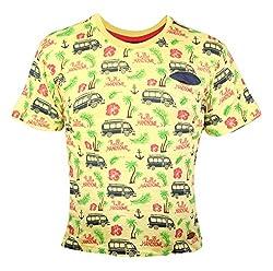 Vitamins Boys' T-Shirt (08B-496-14-Lt.Yellow._Yellow_12 - 13 Years)