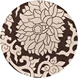Thomas Paul Blossom Tufted Rug BLCC - 8' Round - Chocolate/Cream