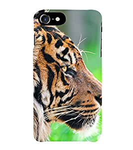 Fiobs Tiger Face Side look Phone Back Case Cover for Apple iPhone 7 Plus (5.5 Inches)