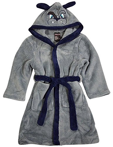 American Hero - Little Boys Long Sleeve Bulldog Hooded Robe, Grey 36370-7 (American Bulldog For Sale compare prices)