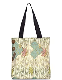 Snoogg Abstract Design Aon Digitally Printed Utility Tote Bag Handbag Made Of Poly Canvas