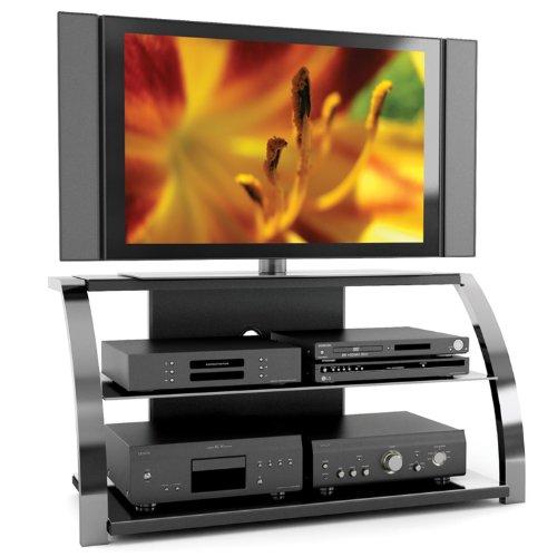 Sonax ML-1444 Milan 50-Inch Gun Metal TV Stand