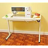 Arrow Gidget II Home Indoor Adjustable Sewing Machine Sturdy Craft Table White