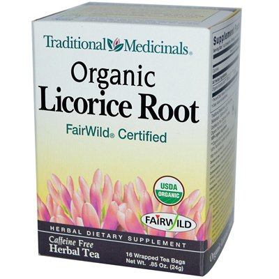 Traditional Medicinals Organic Licorice Root Herbal Tea - 16 Tea Bags (Pack Of 6) - Pack Of 6