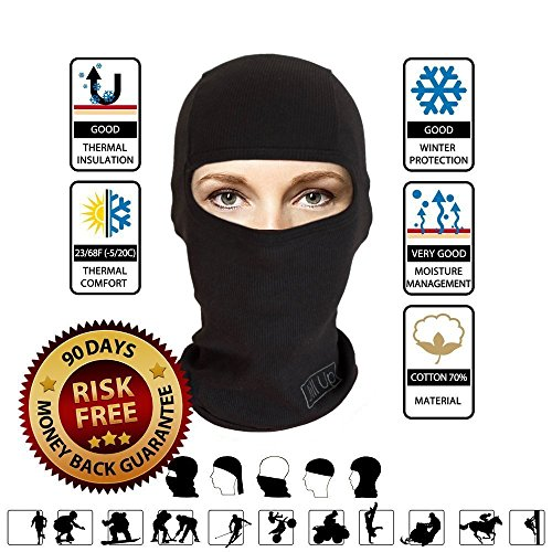 2 PACK - Balaclava Ski Face Mask Sport Neck Warmer (Guantes De Football compare prices)