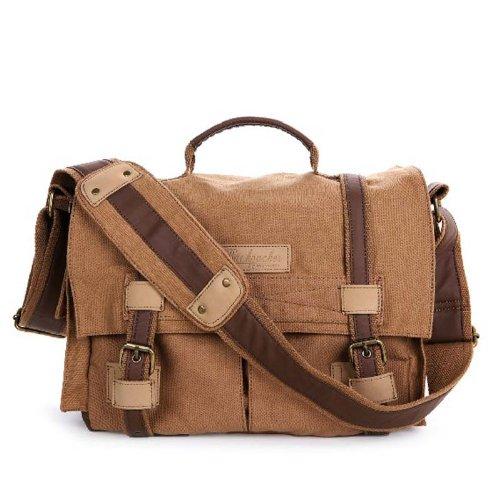 New Win8Fongyellow Canvas Dslr Camera Bag Shoulder Messenger Bag For Sony Canon Nikon Bbk-3