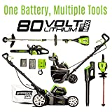 GreenWorks Pro 80V 20-Inch Cordless Snow Thrower, 2Ah Battery & Charger Included