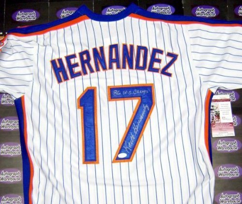 Autographed Keith Hernandez Jersey - inscribed 86 WS Champs JSA Certified) - Autographed MLB Jerseys