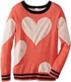 Beautees Girls 7-16 Big Heart Pullovere Sweater