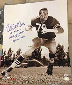 Bob St. Clair PSA DNA Certified Autographed San Francisco 49ers 16x20 Photo by 12-6 Sportscards & Collectibles