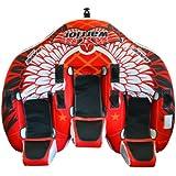 Rave Sports Warrior 3 Recumbent Style 3 Person Towable Ski Tube