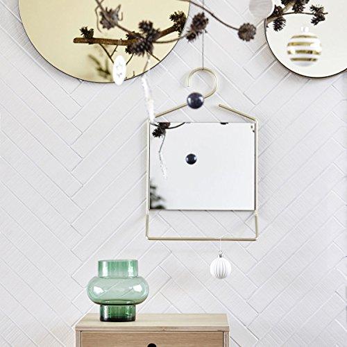 Spiegel Hang-Messing gold