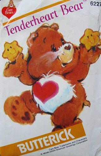 Care Bear Tenderheart Bear Sewing Pattern Butterick 6227 Vintage 1983 Stuffed Bear front-868718