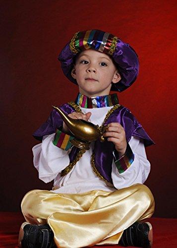 [Childrens Aladdin Style Costume Medium (6-8yrs)] (Aladdin Costume For Boy)