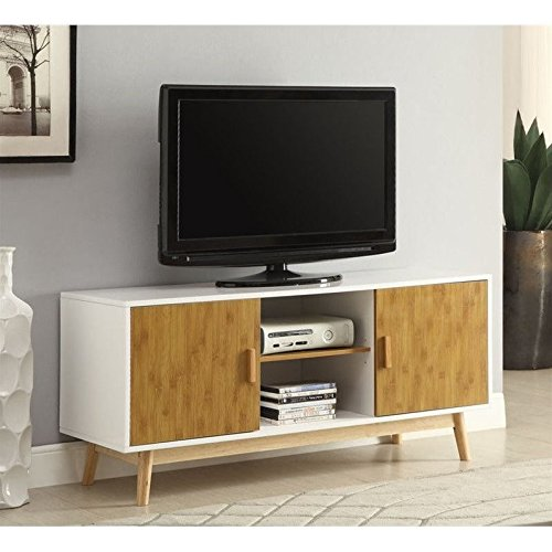 Convenience Concepts Designs2Go Oslo TV Stand, White (Mid Century Tv Stand compare prices)
