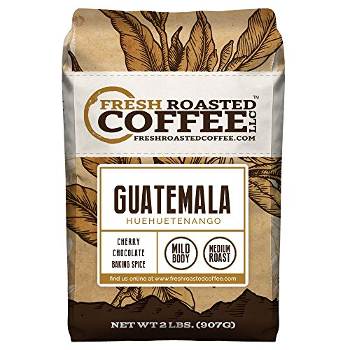 Guatemala Huehuetenango Coffee, Whole Bean, Fresh Roasted Coffee LLC (2 lb.) (Whole Bean Guatemala Coffee compare prices)