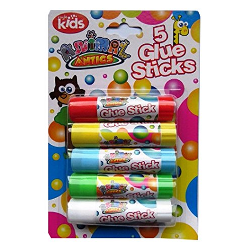 coloured-childrens-glue-sticks-pack-of-5-colours-animal-antics