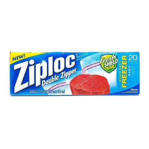 Ziploc Double Zipper Freezer Bags, Pint 20 Ea