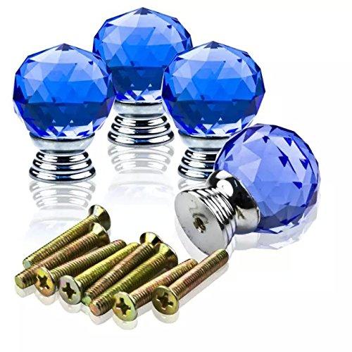 DECOOL (TM) Blau 4PCS*1.2″Kristall Glas Möbelknopf Möbelknöpfe Möbelgriffe Möbelknauf Griff Knopf Schrank griff DIY Crystal Handle jetzt bestellen