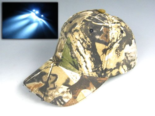Cool! Fishing Hat Vintage Camouflage Hunting Hat Fishing cap hiking cap Camouflage bucket hat tactics With Led Lights