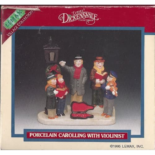 Lemax Dickensvale Village Collection 1995 Porcelain Carolling with