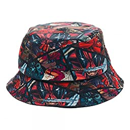 Marvel Comics Deadpool All Over Print Bucket Costume Cap Hat