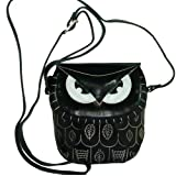 Genuine Leather Crossbody Bag, Lovely Owl Designs, a Unique Satchel.