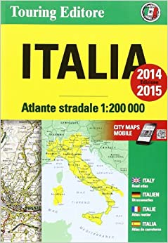 Italy Atlas TCI 1:200K (English and Italian Edition): Touring Club