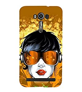 printtech Girl Music Headphones Abstract Back Case Cover for Asus Zenfone 2 Laser ZE550KL / Asus Zenfone 2 Laser ZE550KL (5.5 Inches)