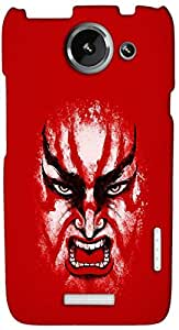 Timpax Light Weight One-piece construction Hard Back Case Cover Printed Design : An angry man.100% Compatible with HTC X+ ( Plus )