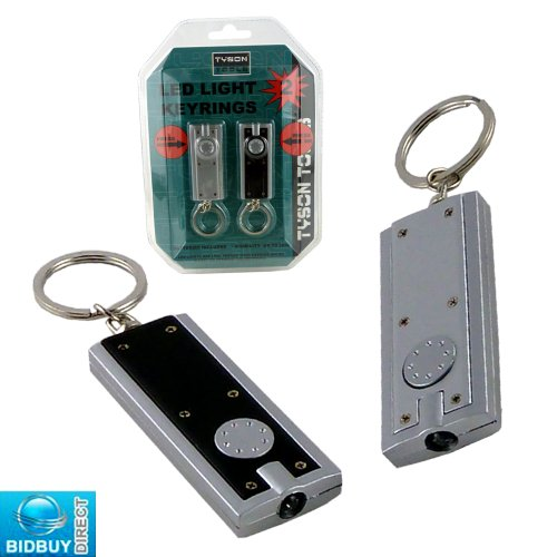 BRAND NEW - 2PC LED LIGHTS KEY RINGS - VISIBILITY UP TO 2KM - IDEAL FOR CAR, HOME AND OFFICE KEYS