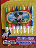 Disney Jr. Micky Mouse Clubhouse Birthday Cake Candles - Featuring Mickey Mouse!!!