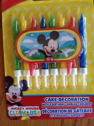 Disney Jr. Micky Mouse Clubhouse Birthday Cake Candles - Featuring Mickey Mouse!!! - 1