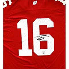 Russell Wilson Autographed Hand Signed Wisconsin Badgers Red Adidas Jersey Size XL RW...