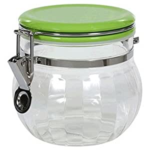 Canister jar clear acrylic for Clear bathroom containers