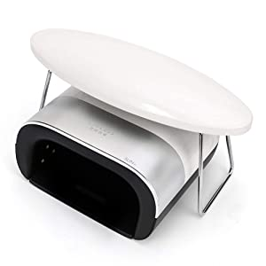 Manicure Hand Pillow, Nail Arm Rest Table Cushion Stand Holder for Salon Nail Technician Use, Upgraded Microfiber Leather, Beige