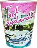 Ft. Lauderdale Florida Pink Photo Shot Glass