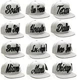 American Cities Snapback USA Script Flat Bill Snap Back Cap Hat Cap