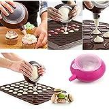 YSTD® Weaving Braid Light Blonde Cosplay WigMacaron Baking Decorating Pen Pastry Cream Cake Muffin Silicone 5 Nozzle Kit Set