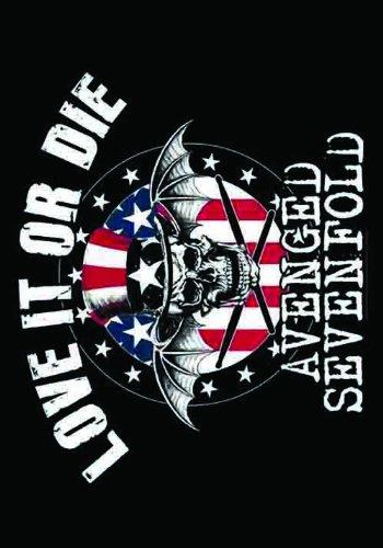 Heart Rock Licensed Bandiera Avenged Sevenfold - Love It Or Die, Tessuto, Multicolore, 110X75X0,1 cm