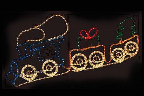 クリスマスイルミネーション サンタトレイン クリスマス イルミ ピクチャーモチーフ 2D