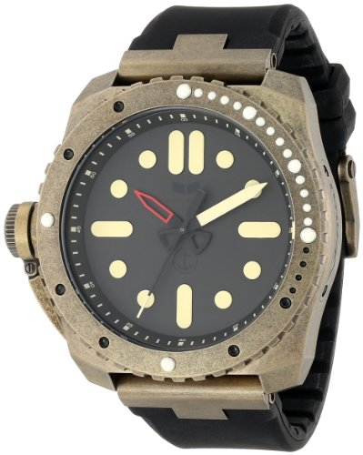 Vestal Men's RSD3S03 Restrictor Diver 50 Antique Gold Black Watch
