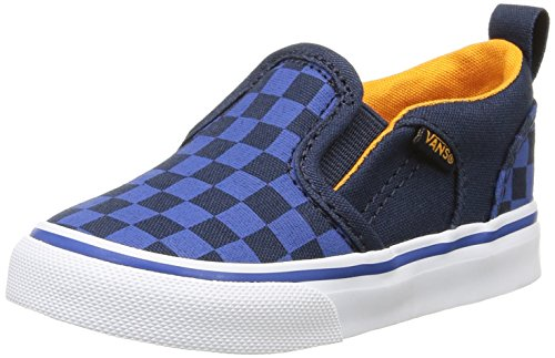 Vans Asher V - Scarpe Primi Passi Unisex - Bimbi 0-24, Blu (checkers/dress Blues/true Blue), 22.5 EU