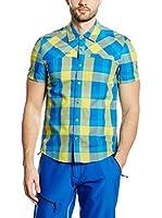 Mammut Camisa Hombre Buckwell (Azul / Amarillo)