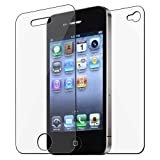 eForCity 3x Front/Back Screen Protector Guard Compatible with iPhone® 4 4S 4G 4GS G 4th